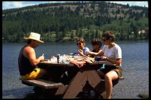 picknick, camping tours in canadian rockies