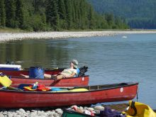 canada, athabasca, guided, canoe, trip, alberta