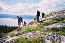 small group, hike, canada, rocly mountains, rockies