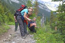 hiking, small groups, rocky mountains, canada