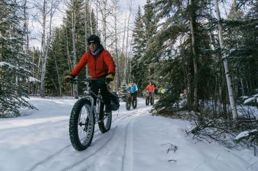 winter urlaub in kanada, fat tire, biking