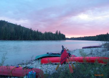 guided canoe trips on Athabasca in Canada