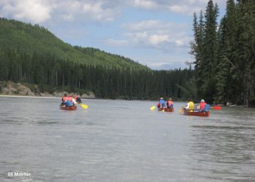 canoeing the Athabasca River in Alberta, Canada