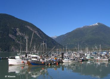 Bella Coola harbour on the west coast of British Columbia