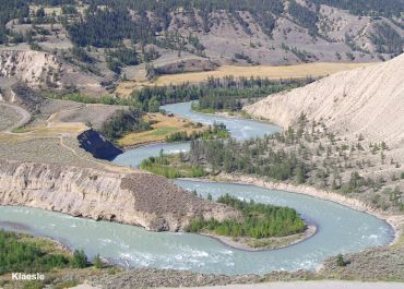 the chilcotin river in northern British Columbia, Canada